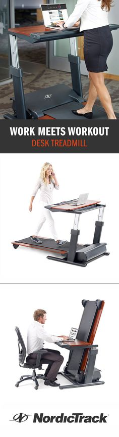New studies emerge every day that point to the negative impacts of sitting at work. Now you can move while you work. The NordicTrack® Desk Treadmill delivers a worthy workout while providing a sturdy workspace. Take advantage of the oversized desktop and iFit® training technology, which delivers personal trainer-designed workouts and automatic tracking of every workout, every mile and every calorie burned.
