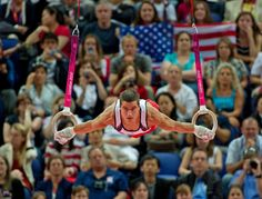 I'm always amazed at the strength of men's gymnastics.