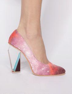 Crystal light heels