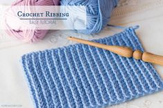 How To: Crochet A Ribbing - Easy Tutorial