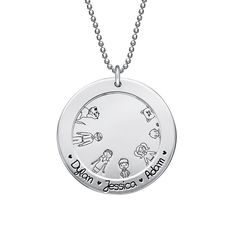 Familien Halskette aus Sterling Silber | MeineNamenskette