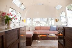This Chic Camper Will Make You Want to Be an Airstream Dweller #camper #mobilehome #airstream #smallspace