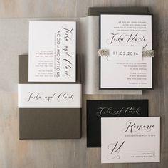 modern calligraphy customizable wedding invitations modern