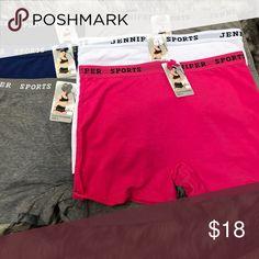 6 pair of Jennifer Sports bottoms 6 pair of Jennifer sports bottoms Jennifer Intimates & Sleepwear Panties