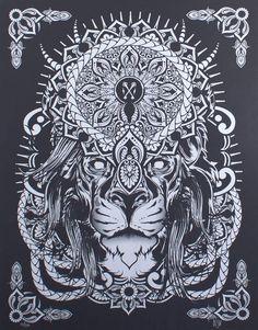 lion mandala tattoos - Google Search