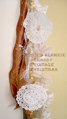 adam's blankie shabby vintage christmas - diy paper doily snowflakes with ideas on what to do with them!