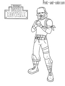 71 Best FORTNITE COLORING PAGES