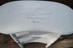 come see how to use freezer paper to transfer graphics on to furniture, painted furniture