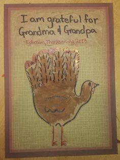 Thanksgiving craft- Hand Turkey Card- Toddler Activity
