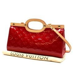Louis Vuitton Roxbury Drive Monogram Vernis Shoulder bags Red Patent Leather M91987