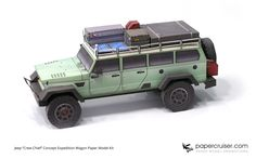 "Jeep Crew Chief Concept - Fantasy ""Expedition wagon"" paper model"
