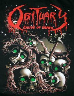 Obituary!! \m/ Heavy Metal Rock, Heavy Metal Music, Heavy Metal Bands, Black Metal, Obituary Band, Hard Rock, Metal Band Logos, Rock Y Metal, Rock Poster