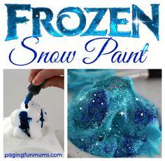 Frozen Snow Paint