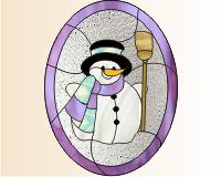 Christmas - Snowman and broom snowman top hat and broom holiday image []$2.00   PDQ Patterns