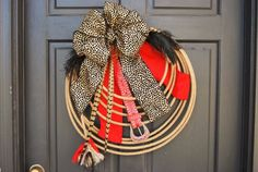 Rodeo Cowgirl Western Lariat Rope Wreath  by DesignsbyTinaCollins