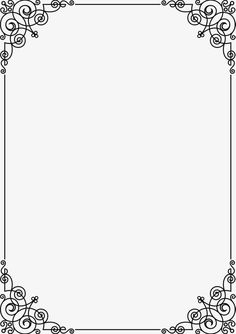 Black Line Frame PNG - black, black clipart, border, border texture, dig Page Borders Free, Page Borders Design, Printable Border, Printable Frames, Printable Labels, Frame Border Design, Boarder Designs, Borders For Paper, Borders And Frames