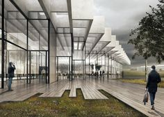 COBE has won a contest to design a new landmark building at Adidas' global headquarters, with plans for a rhombus-shaped building filled with winter gardens