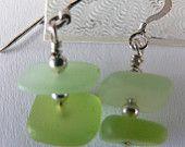 Maineteam Vintage Swarovski light blue crystals, 7 mm pearls, gold tone dangle earrings. $15.00, via Etsy.
