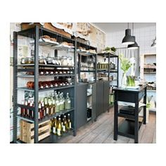 IKEA - IVAR, 4 section shelving unit, Untreated solid pine is a durable natural material that can be painted, oiled or stained according to preference.You can move shelves and adapt spacing to suit your needs.
