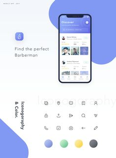 Barbara App - Find The Perfect Barberman on Behance Mobile Ui Design, App Ui Design, Email Design, Interface Design, Desing App, Mobile App Icon, Smart Home Design, Amazing Websites, Website Design Inspiration