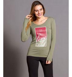 Μπλούζα με στάμπα Love - Χακί Graphic Sweatshirt, Sweatshirts, Sweaters, Fashion, Moda, Fashion Styles, Trainers, Fasion, Sweater