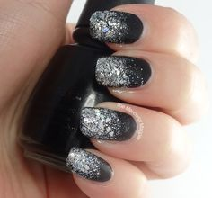 The Mercurial Magpie - Nail Art - New Years Eve glitter Gradient - 2014