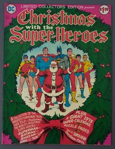 Limited Collectors' Edition C-34 FN+ 6.5 DC 1975 Treasury Christmas Super-Heroes