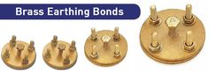 Our high quality #EarthBondingClamps and #tapeBonds as per customer's needs and requirements. These are suitable for bonding copper cable or wire to steel structures.Visit @ http://www.copperearthingaccessories.com/products/brass-earthing-bonds/