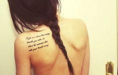 Shoulder Quote Tattoo
