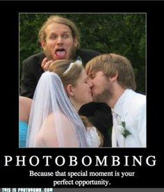 Wedding Photo Bomb!