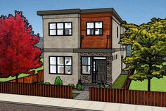 Modern Family House Plans - Modern Family House Plans , Contemporary Style Multi Family Plan with 6 Bed 4