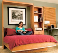How to Build a Murphy Bed - many people incorrectly assume that installation requires cutting into a wall. Although early versions were built into apartment walls and concealed with closet doors, today most murphy beds are placed in the room like a piece of furniture.