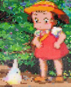 Totoro perler bead art Perler Beads, Perler Bead Art, Fuse Beads, Melty Bead Patterns, Hama Beads Patterns, Beading Patterns, Totoro, Studio Ghibli, Pearl Beads Pattern