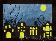 Kids Artists: Amsterdam by night