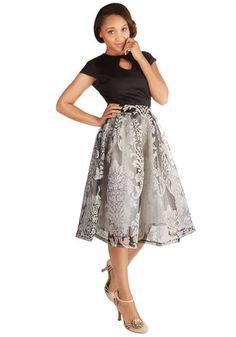 Luncheon Hostess Skirt   Mod Retro Vintage Skirts   ModCloth.com