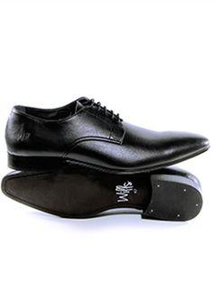 Vegan Vegetarian Non-Leather Mens Smart Black Shoes Slim Sole Oxford