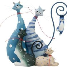 The Cat Pack Cats Figurine by Westland Giftware Catitudes http://www.amazon.com/dp/B004YMNLMY/ref=cm_sw_r_pi_dp_SWhFub024VNZC