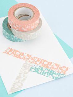 Pastel floral washi tape