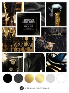 Black and Gold Wedding Colors | Wedding Paper Divas