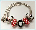 5 Authentic  Pandora 925 ale silver CHARMS BEADS  Disney Mickey Minnie '