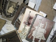 Vintage photos for jewelry display
