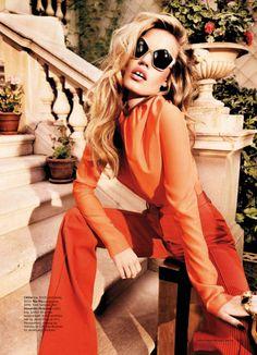Like a Rolling Stone. #GeorgiaMayJagger #HarpersBazaar #fashion #editorial #suit #pinstripe #tangerine