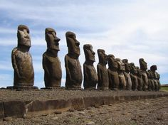 Easter Island, Chile Built between 1110 and 1680 AD, the maoi statues are both beautiful and eerie and are said to have been built out of respect for the elders and deceased of tribes on the island.