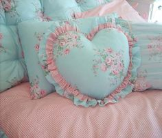 Share this page with others and get 10% off! Heart Ruffled Pillow