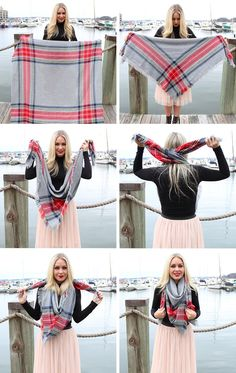 Cool, chic — and above all — warm, blanket scarves are a winter must-have. But to avoid looking like you're just wearing a blanket cape (which, rock it if that's your thing!), there's a ton of different ways to learnhow to tie a blanket scarf depend