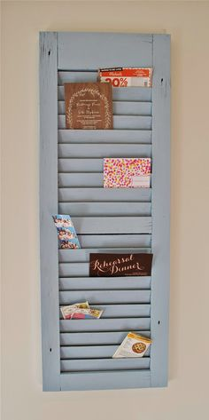 Holly B Baking : DIY Shutter Mail Organizer