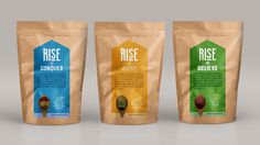 Rise's Health Food Branding Incites Challenge and Change #packaging trendhunter.com Cheese Packaging, Rice Packaging, Plastic Food Packaging, Organic Packaging, Coffee Packaging, Pouch Packaging, Food Branding, Food Packaging Design, Packaging Design Inspiration