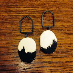 Pauline Edie Skyline earrings porcelain & silver