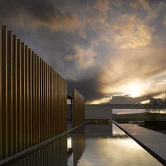 Wood Verticals-Rothschild Foundation by Stephen Marshall Architects