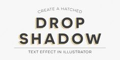 Create a Hatched Drop Shadow Text Effect in Adobe Illustrator | Every-Tuesday
